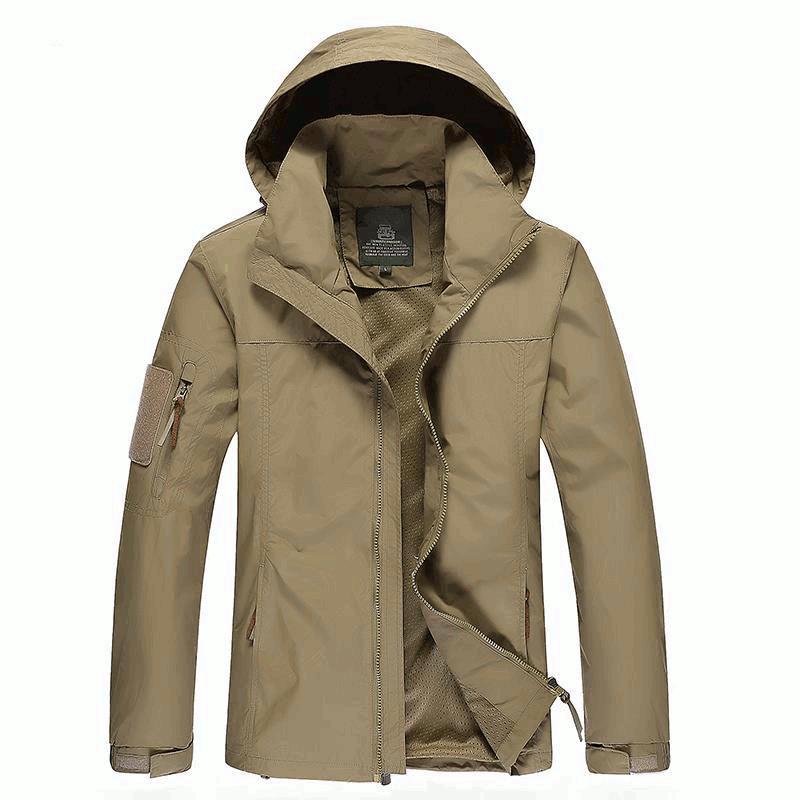 2020 Jeep Rich Men/'s Autumn Winter Warm Coat Jacket Outwear Cotton Blend Zipper