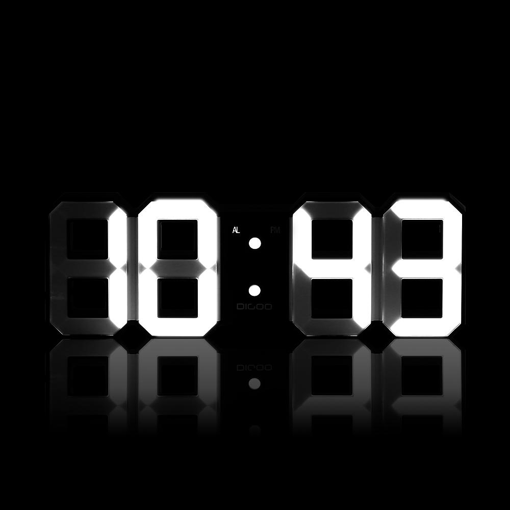 Digoo DCK3 MultiFunction Large 3D LED Digital Wall Clock Alarm