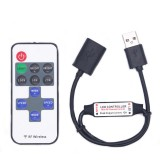 DC5-24V 11 Keys Mini USB RF Wireless Dimmer Remote Control LED Controller for Single Color Strip