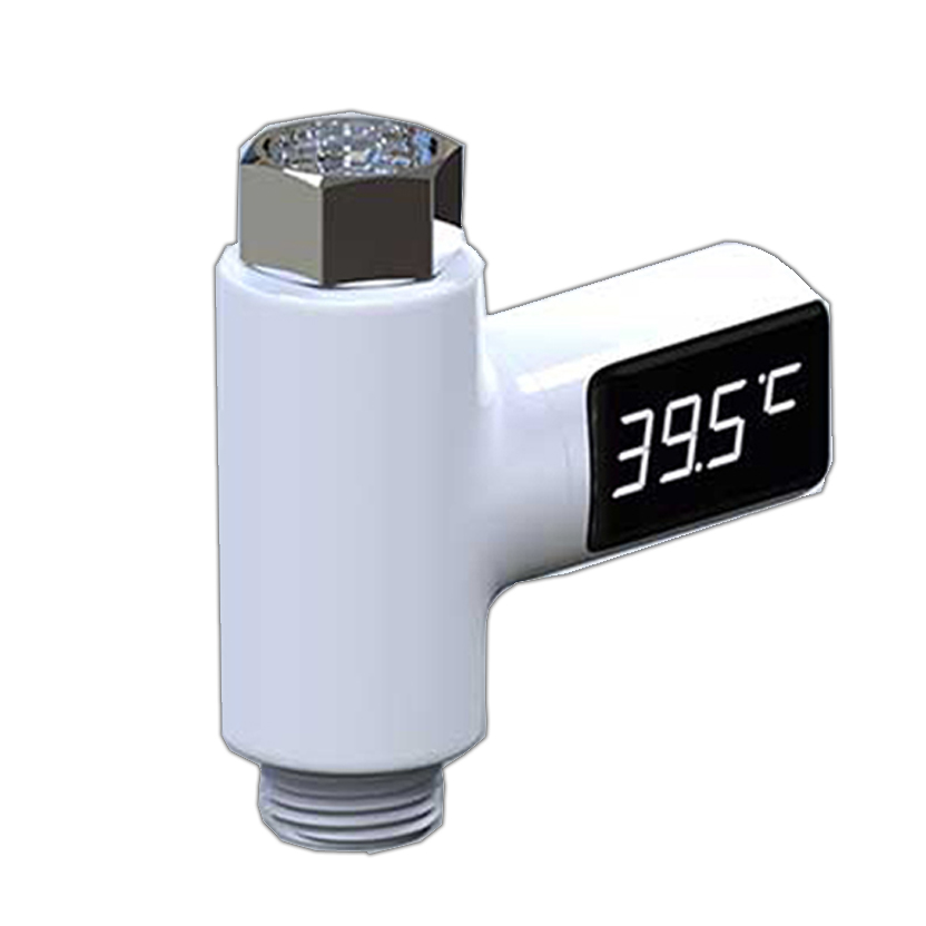 LED Display Water Shower Flow Thermometer Smart Electricity Temperture Meter