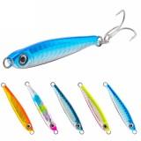 SeaKnight SK302 1PC 21g 65mm Jigging Fishing Lure Metal Sinking Spoon Fishing Baits 3D Eyes