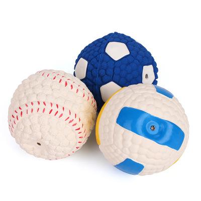 Squishy Ball Dog Toy : Yani DCT-3 Dog Toys Squishy Soft Bouncing Latex Ball Fetch Throw Balls Sound Training Teeth Toy ...