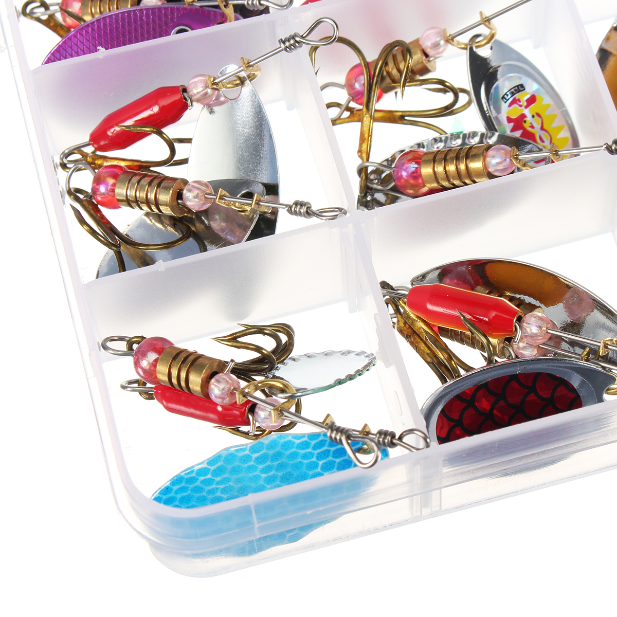 ZANLURE 30pcs//lot Colorful Tront Spoon Metal Fishing Lure Spinner Bait Bass Tack