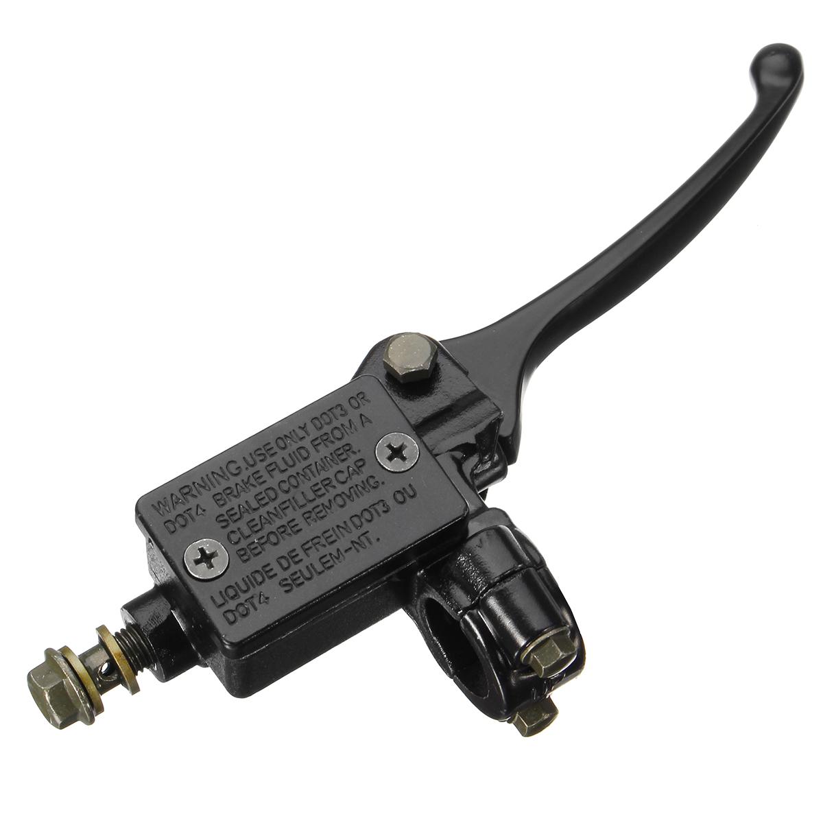 Right Black 10mm Hydraulic Brake Master Lever Cylinder 90-125cc Pit Dirt Bike