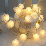 KCASA 2M 20 LED Pine Cone String Lights LED Fairy Lights for Festival Christmas Halloween Party Wedding Decoration Battery Powerd