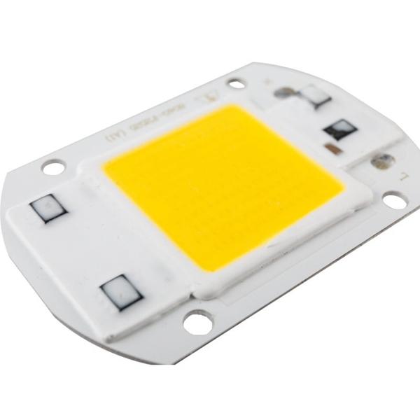 LUSTREON AC110V/220V 20W 30W 50W White/Warm White COB LED Chip 40X60mm for DIY Flood Light