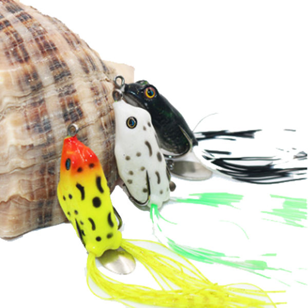 Zanlure 1pc 15g rubber fishing lure frog artificial for Rubber fishing lures