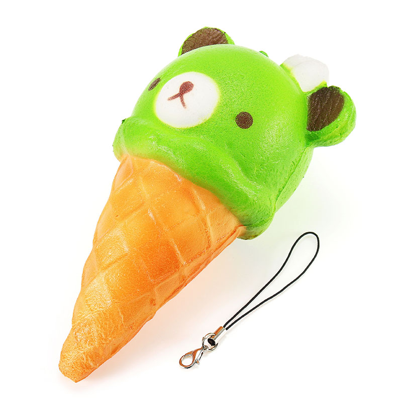 Squishy Bear Toys : Squishy Ice Cream Bear Soft Slow Rising Collection Gift Decor Squish Squeeze Toy Alex NLD