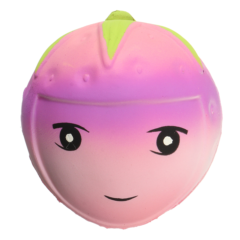 Squishy Face Collection : Squishy Strawberry Face 9cm Soft Slow Rising With Packaging Collection Gift Decor Toy Alex NLD