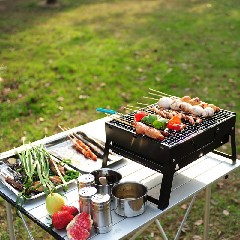 YSR BBQ Portable Barbecue Stove Outdoor Cooking Picnic Camping Wood Charcoal Grill Oven ...