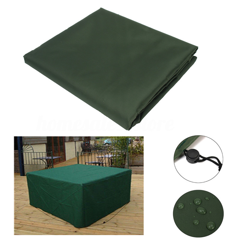 Ipreer 196x114x71cm waterproof polyester 8 seater for Garden furniture covers 8 seater