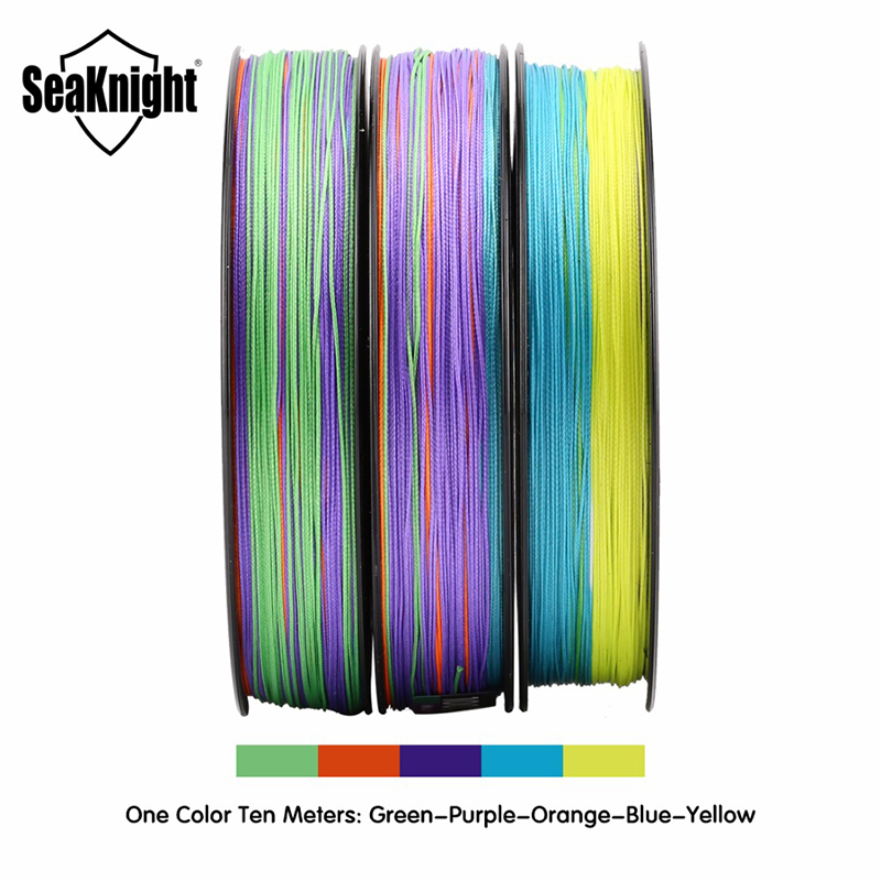 SeaKnight W8 300M 8 Strands Fishing Line Braided Wire Multi-Colors 20-100LB Line Saltwater