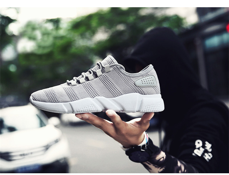 Men Sneakers Casual Sports Running Shoes Lightweight Soft Breathable Mesh