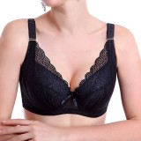 Large Size Full Cup Soft Cotton Breathable Lace Gather Thin Bras