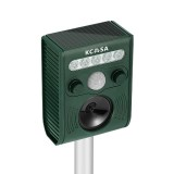 KCASA KC-JK369 Garden Ultrasonic PIR Sensor Solar Animal Repeller Strong Flashlightt Bird Repel