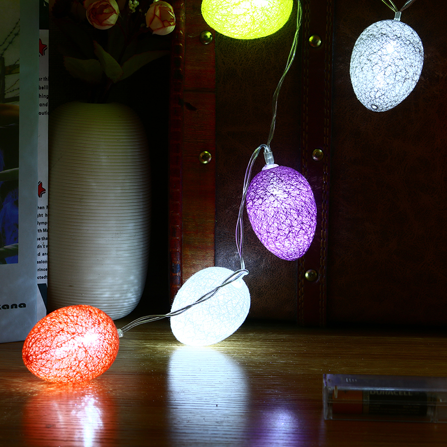 Kcasa 1 8m 10 Led Cotton Easter Egg String Lights Led
