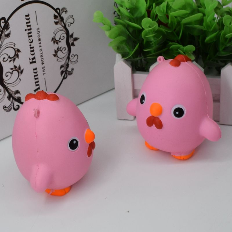 Squishy Pink Chicken Jumbo 10cm Slow Rising Collection Gift Decor Soft Toy Phone Bag Strap ...