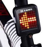 XANES 600LM German Standard Bike Front Light 64 LED Intelligent Brake Warning Bicycle Taillight Set
