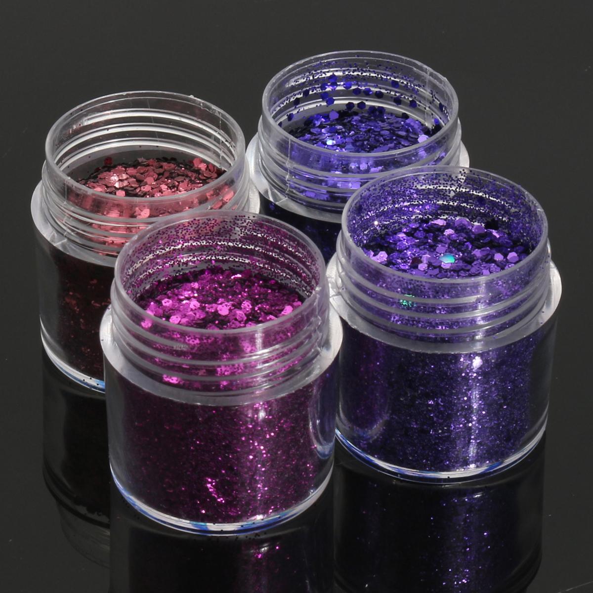 Dark Purple Nail Art Glitter Powder Sheet 1mm Sequins Sparkly ...