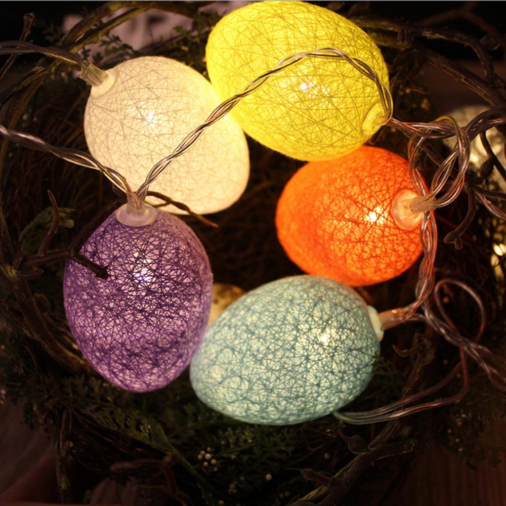 Kcasa 1 8m 10 Led Cotton Easter Egg String Lights Led