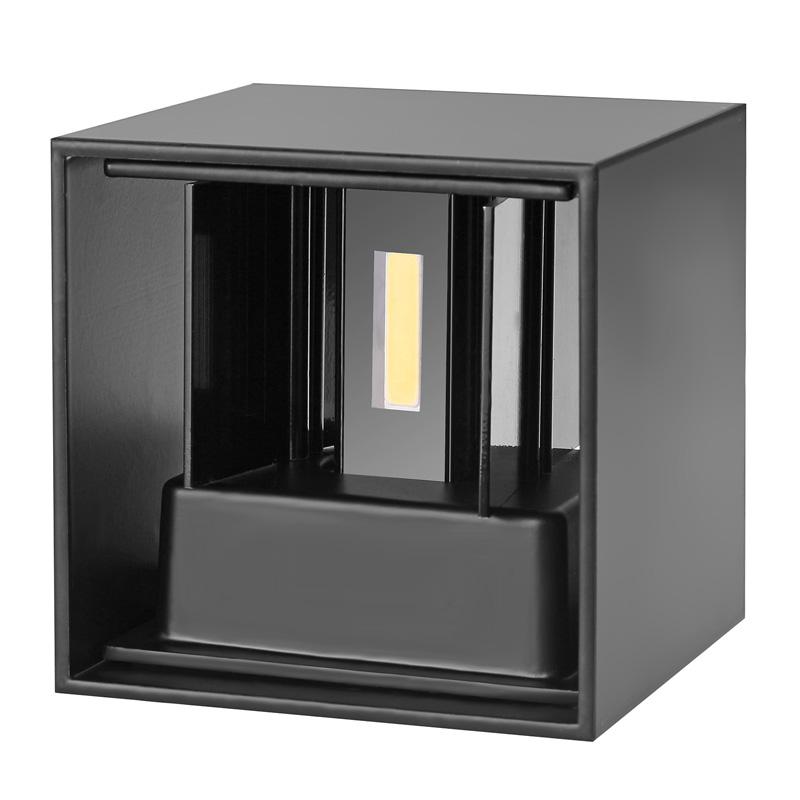 loskii dxct1 ac 220v waterproof 7w aluminum cube cob led wall lamp light modern decorations lighting bathroom sconce modern73 sconce