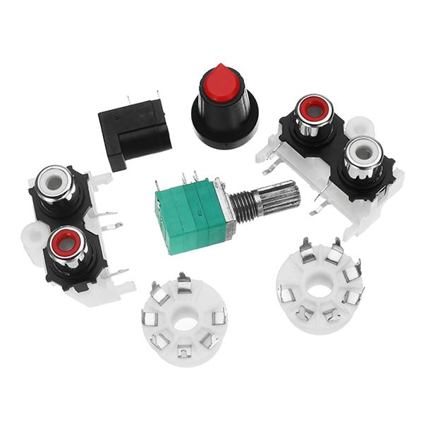 6J1 Pre-amp Tube Preamplifier Amplifier Stereo AC12V DIY  Kit