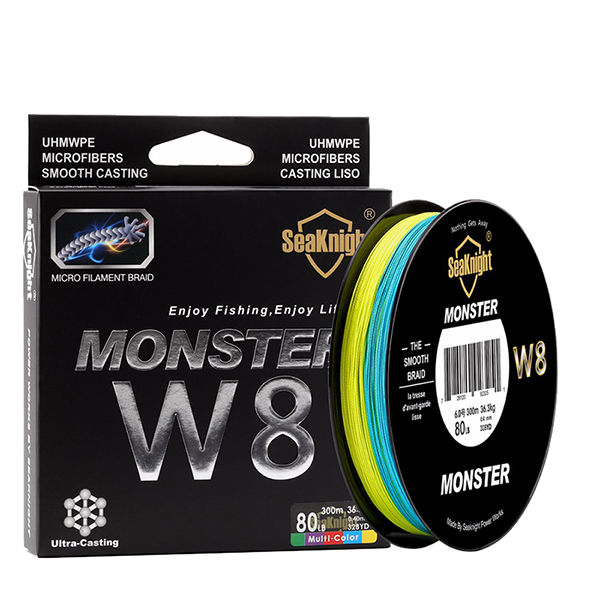 SeaKnight W8 300M 8 Strands Fishing Line Braided Wire Multi-Colors 20-100LB Line
