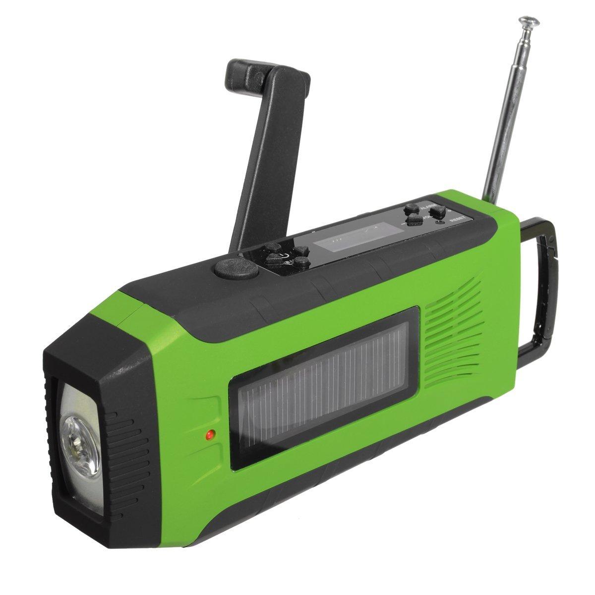 Outdoor Radio Dynamo Survival Solar Self Powered AM FM NOAA Weather Radio  Phone Power Bank