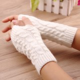 Women Winter Hand Warmer Gloves Thick Arm Crochet Knitting Warm Fingerless Gloves
