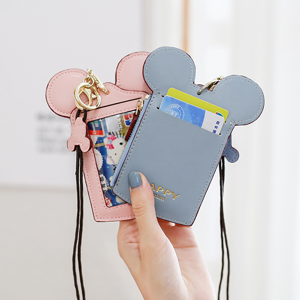 Cute Animal Shape Card Holder Wallet Purse Neck Wallet Lanyard Wallet For Women Alexnld Com