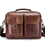 Mens Leather Messenger Bag Retro Laptop Bag Business Briefcase Shoulder Bag