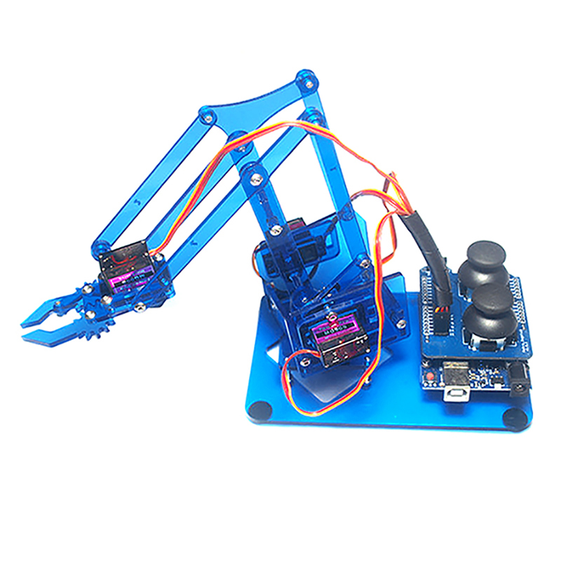 Mearm diy dof arduino robot arm axis rotating kit with