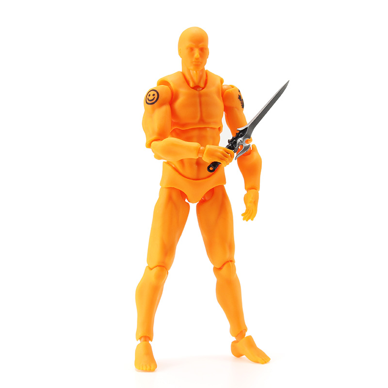 Figma 2 0 Deluxe Edition Orange Male Style PVC Action Figure Toys  Collectible Model Dolls Toy