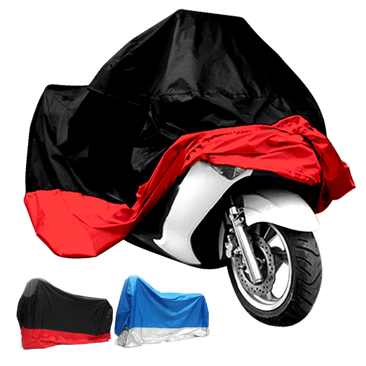 Motorcycle Covers Product : T waterproof motorcycle cover uv protector anti wind