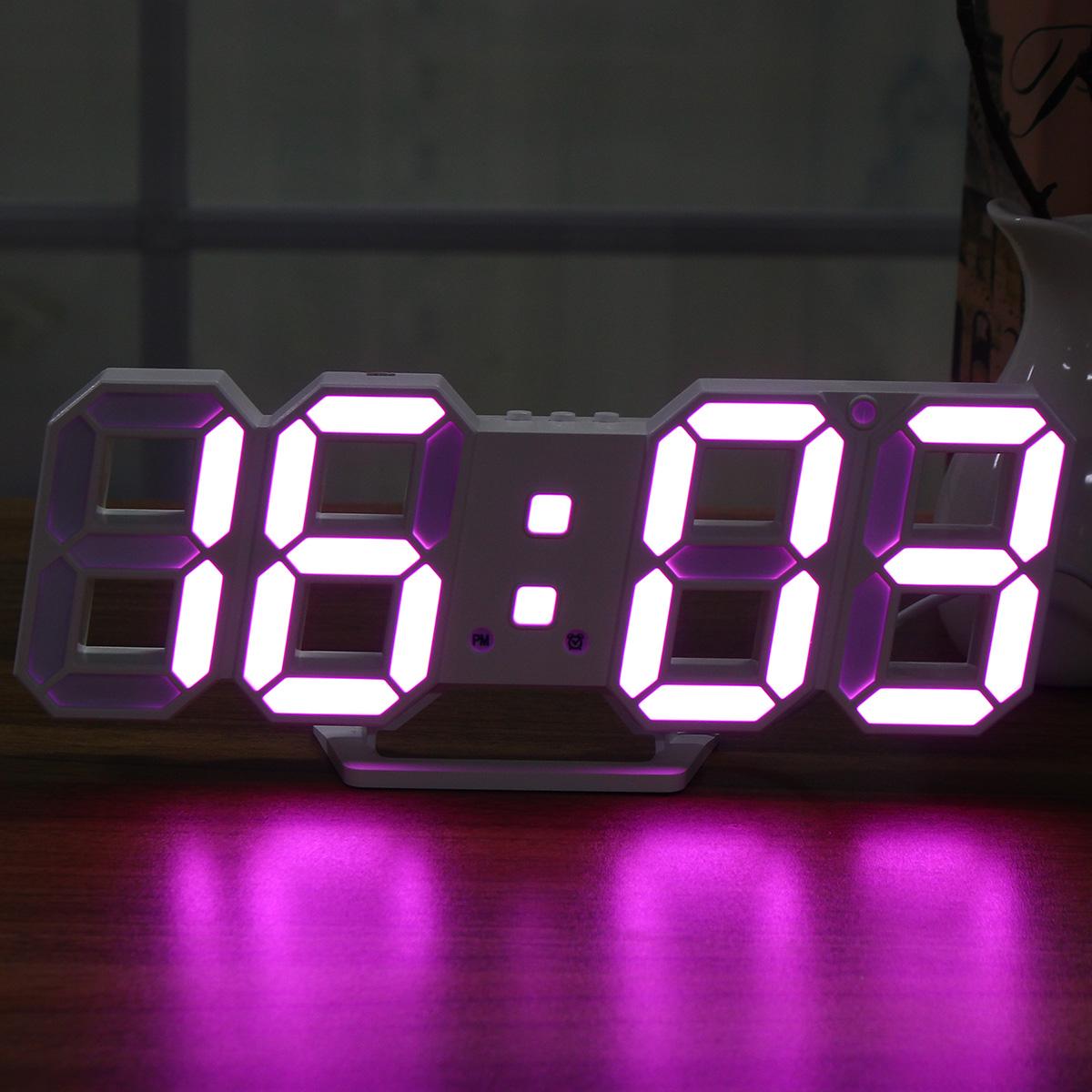 Large Modern Digital Led Skeleton Wall Clock Timer 2412 Hour