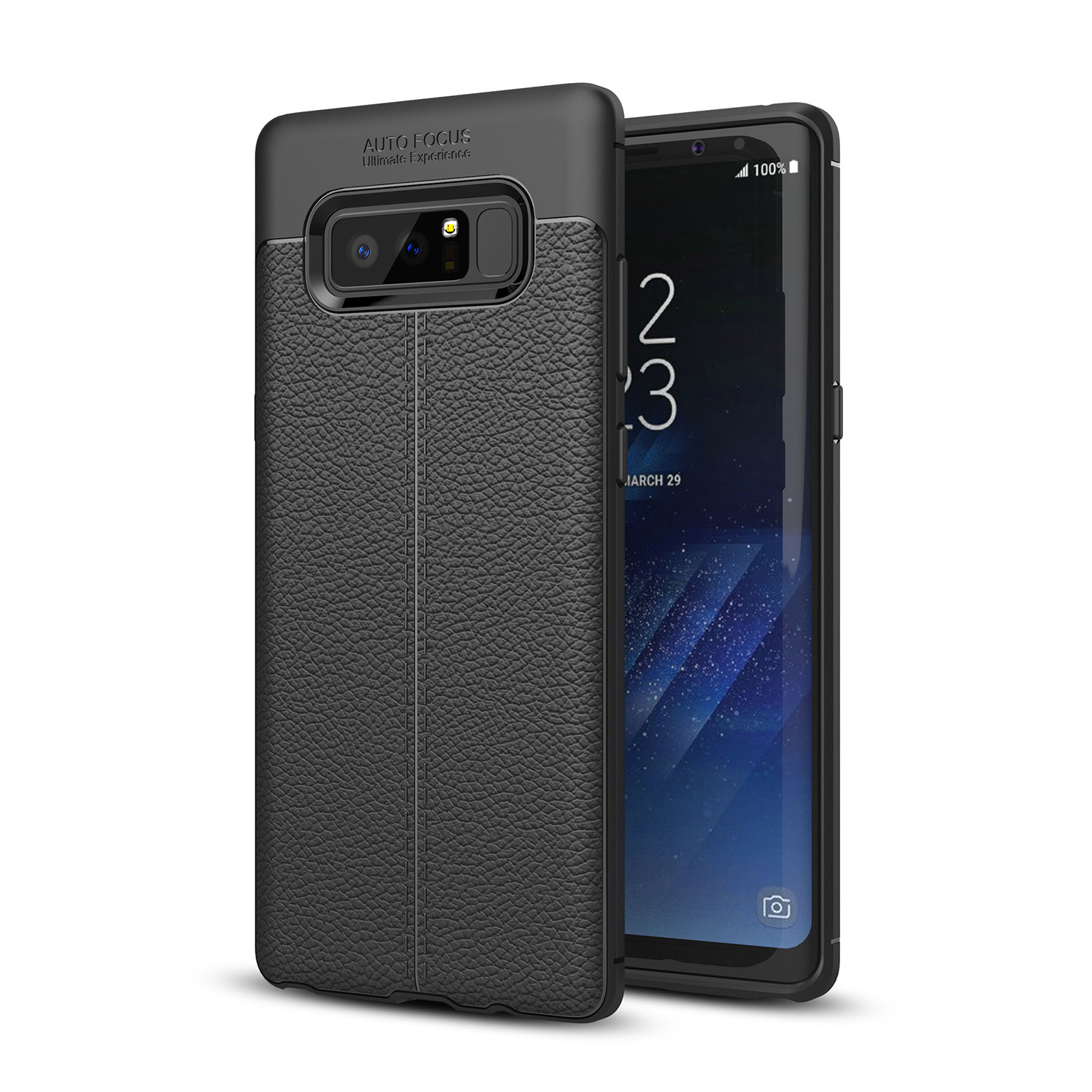 Bakeey™ Anti Fingerprint Soft TPU Litchi Leather Case Cover for Samsung Galaxy Note 8
