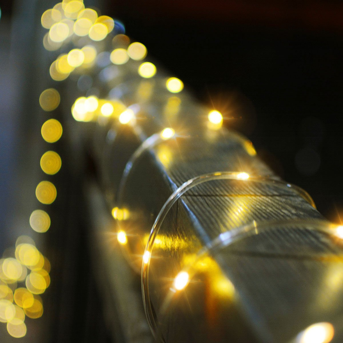 solar powered 120leds 8modes waterproof fairy copper wire rope string light for christmas. Black Bedroom Furniture Sets. Home Design Ideas