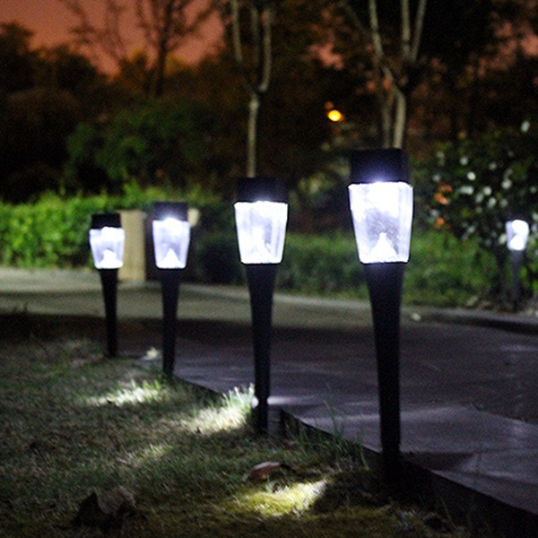 Diy 5 Pvc Led Landscape Lights: 0.8W Solar Powered Plastic Outdoor Garden LED Landscape