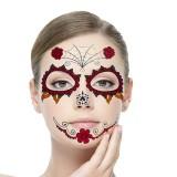 6pcs/set Halloween Costume Cosplay Party Makeup Face Eye Terror Temporary Tattoo Sticker Waterproof
