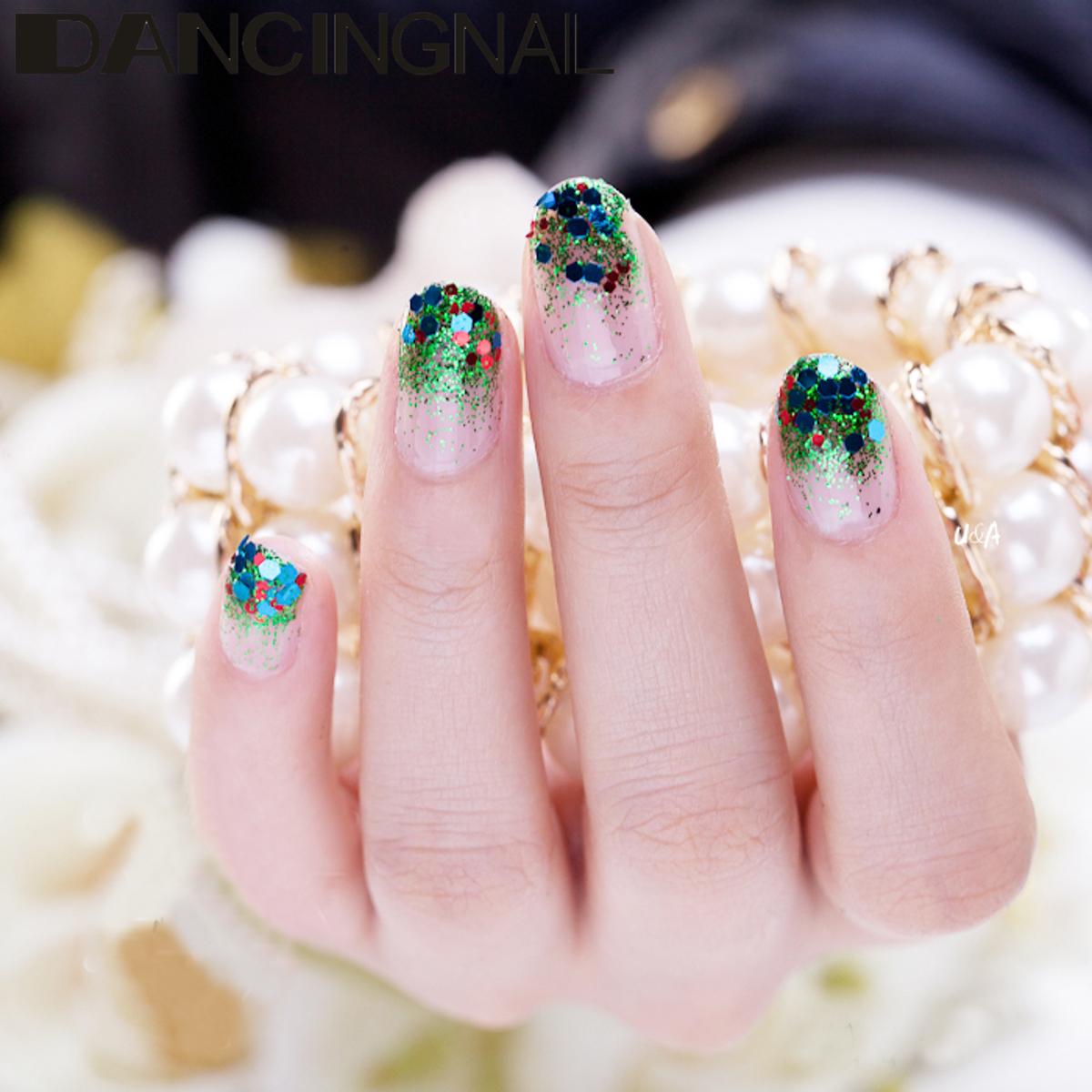 4 x Pots Glitter Powder Sequins. More Detailed Photos  4 box 10ml Green  Iridescent Nail ... c63307e7d1a6