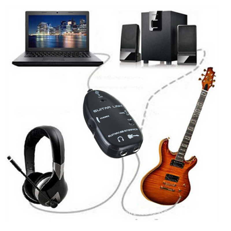 guitar to usb interface link audio wire male stereo headphone adapter alex nld. Black Bedroom Furniture Sets. Home Design Ideas