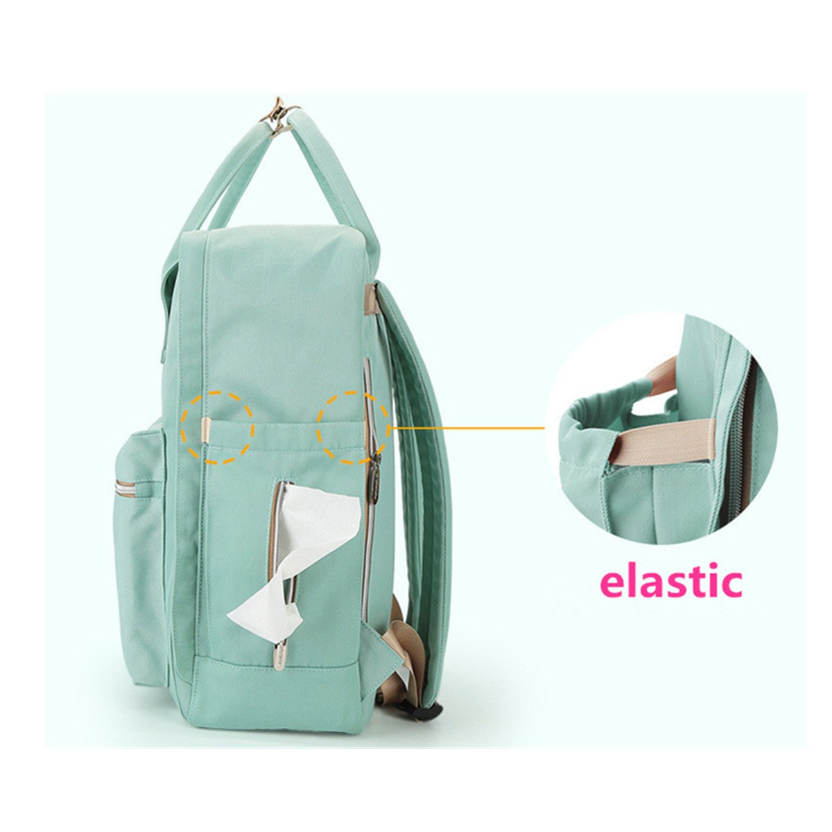 Large Capacity Oxford Travel Backpack Baby Bag Tote Portable Ultralight Bag for Outdoor Activities