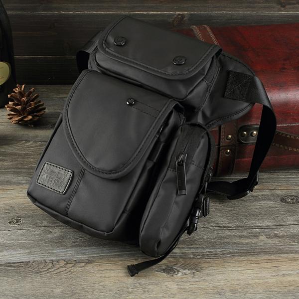 Men Oxford Waterproof Waist Pack Fanny Pack Bag Outdoor Sling Bag Crossbody Bag