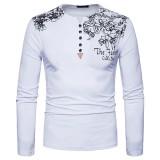 Mens Autumn Henley Long Sleeve Shirt Slim Fit T-Shirt Outdoor Casual T-Shirt