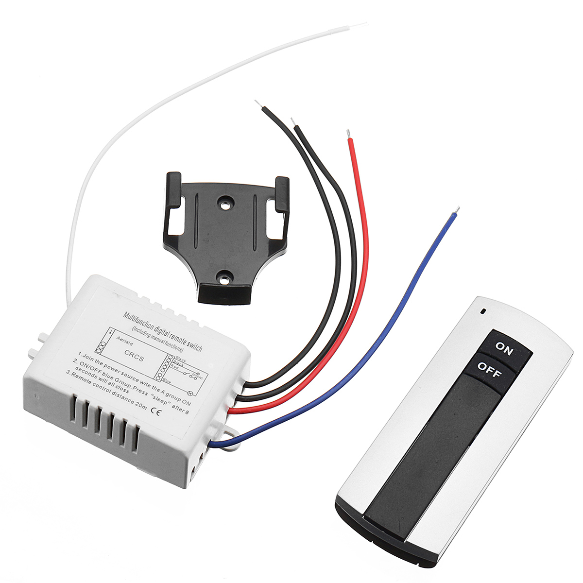 AC 110V/220V 1 Way ON/OFF Lamp Light Digital Switch Dual Button Wireless