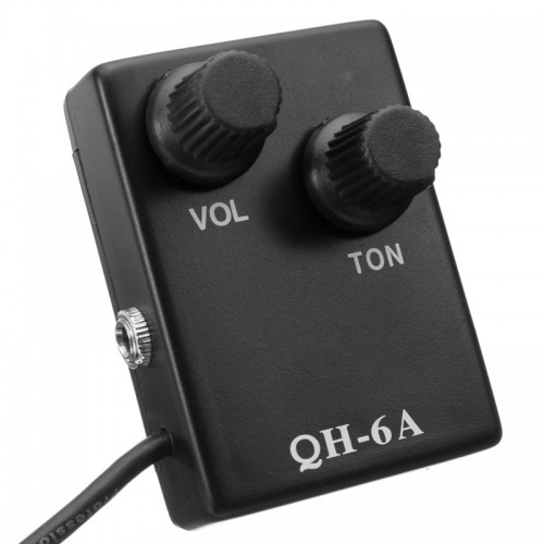 QH-6A Sound Hole Magnetic Preamp EQ Equalizer Tuner Pickup for Acoustic Guitar