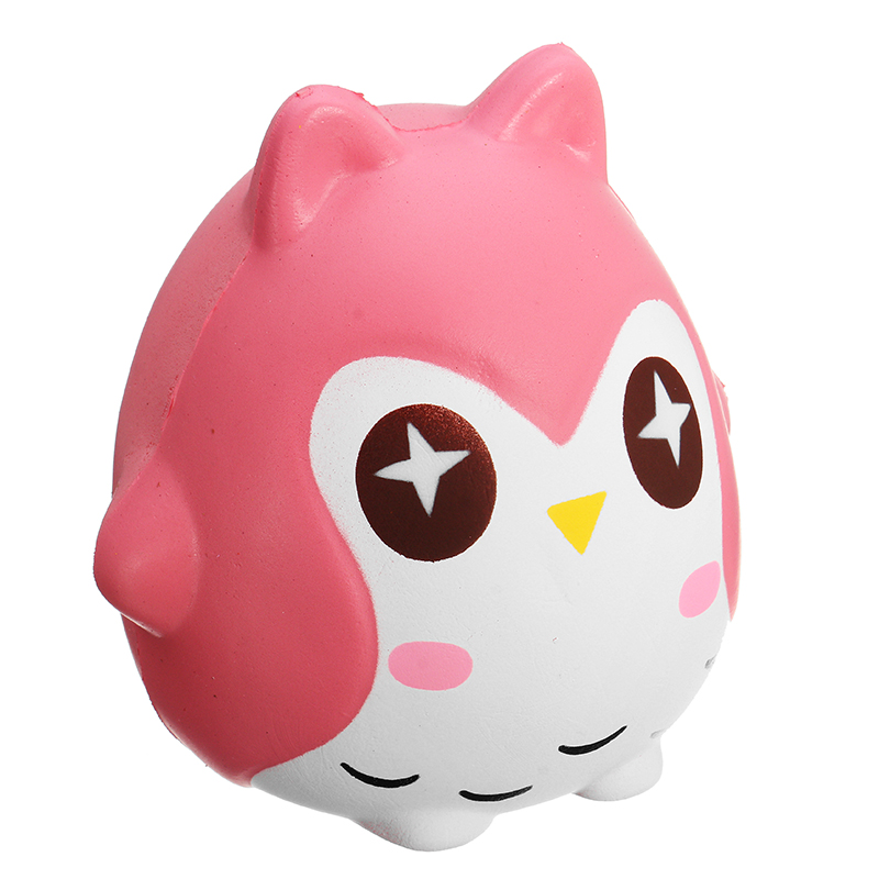 Squishy Owl 10cm Soft Sweet Cute Bird Animals Slow Rising Collection Gift Decor Toy Alex NLD