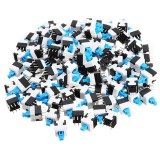 300pcs 8 x 8mm 6 Pin Touch Self-Locking On / Off Switch Push Button Switch Latching Switch
