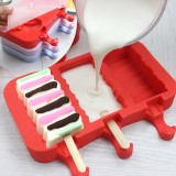 Creative Silicone Ice Cream Mold Ice Lolly Mold Rod Ice Mold Red Food Grade