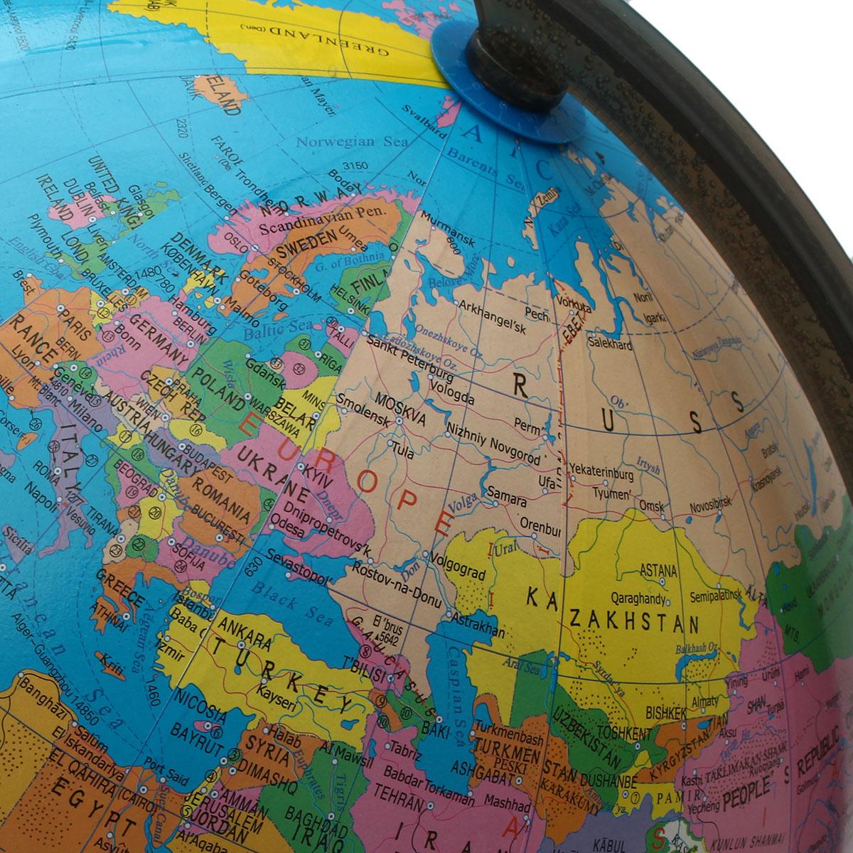 32cm Rotating World Earth Globe Atlas Map Geography
